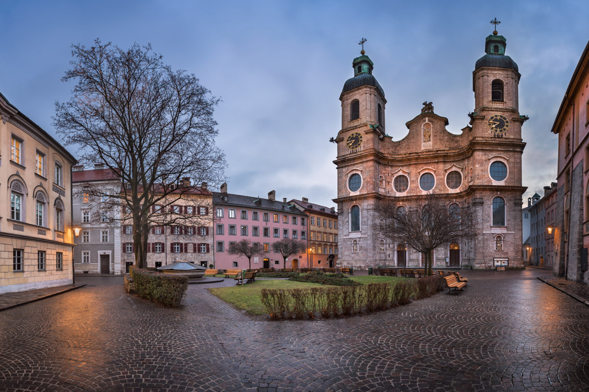 Domplatz Square and Saint Jacob Cathedral, Innsbruck, Austria