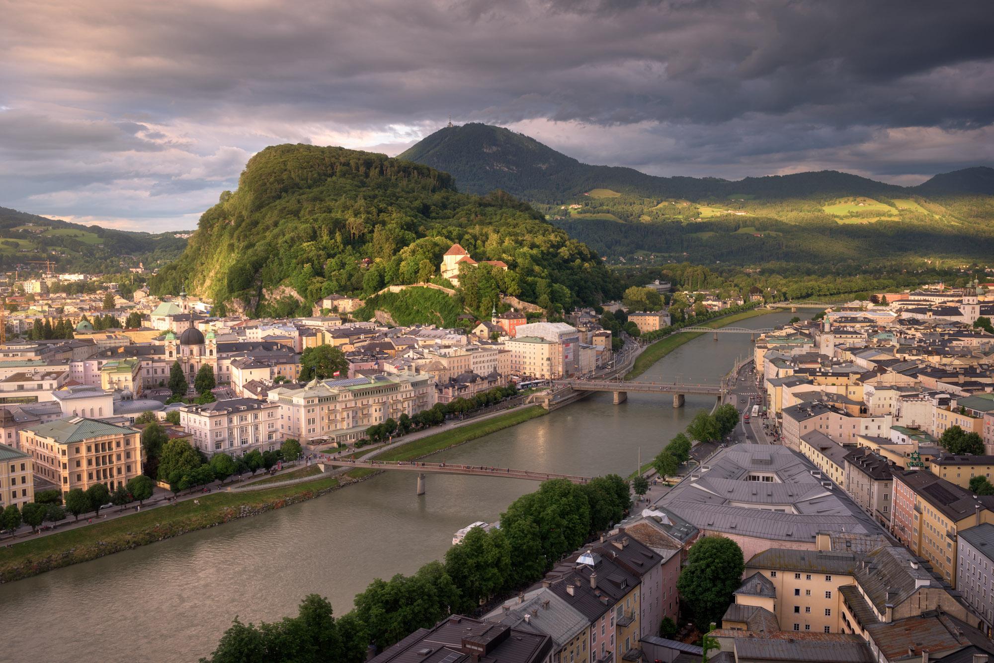 Aerial View of Kapuzinerkloster, Salzburg, Austria