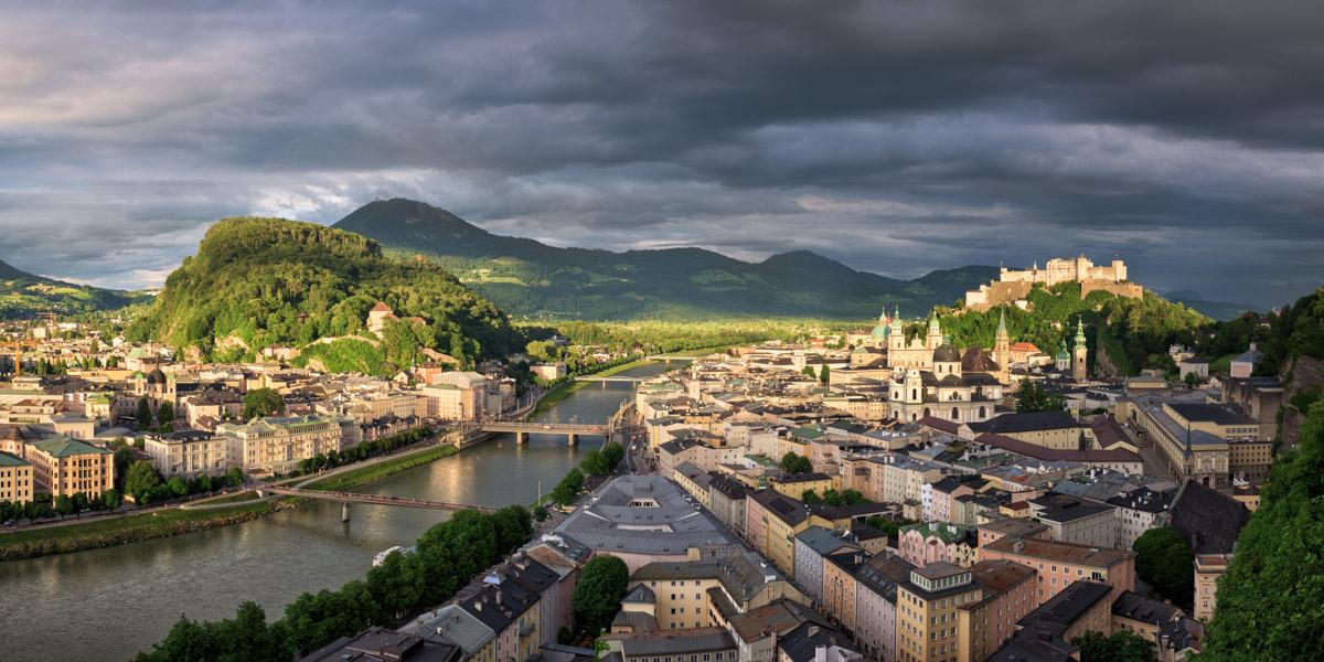 Panorama of Salzburg, Austria