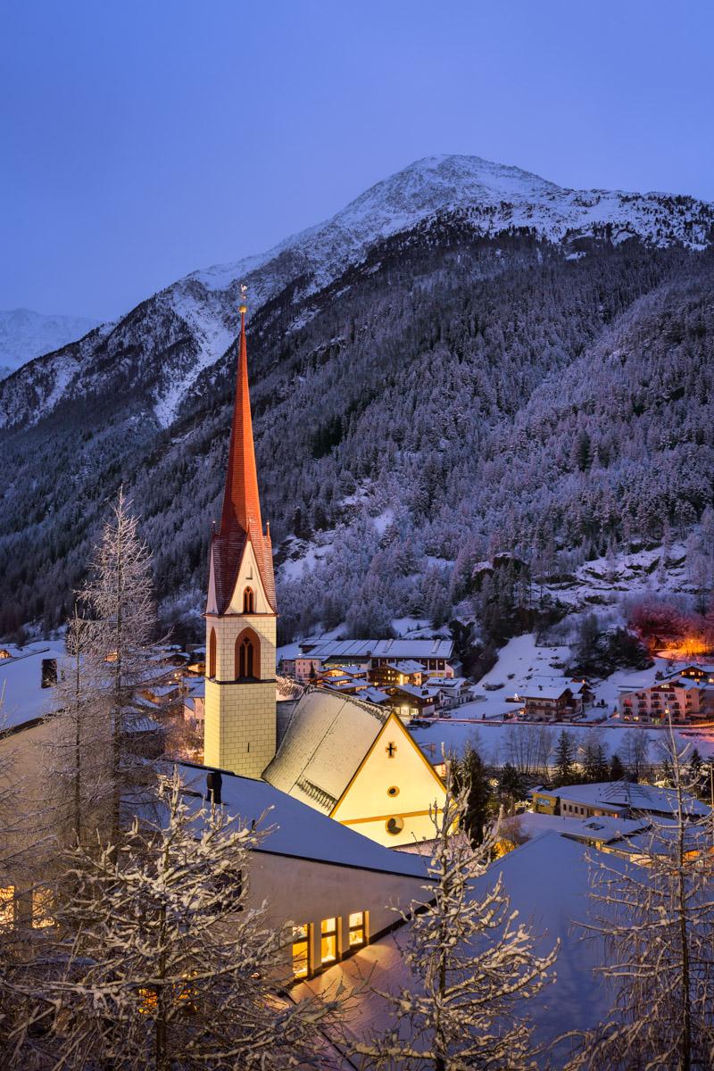 Aerial View of Soelden, Tyrol, Austria