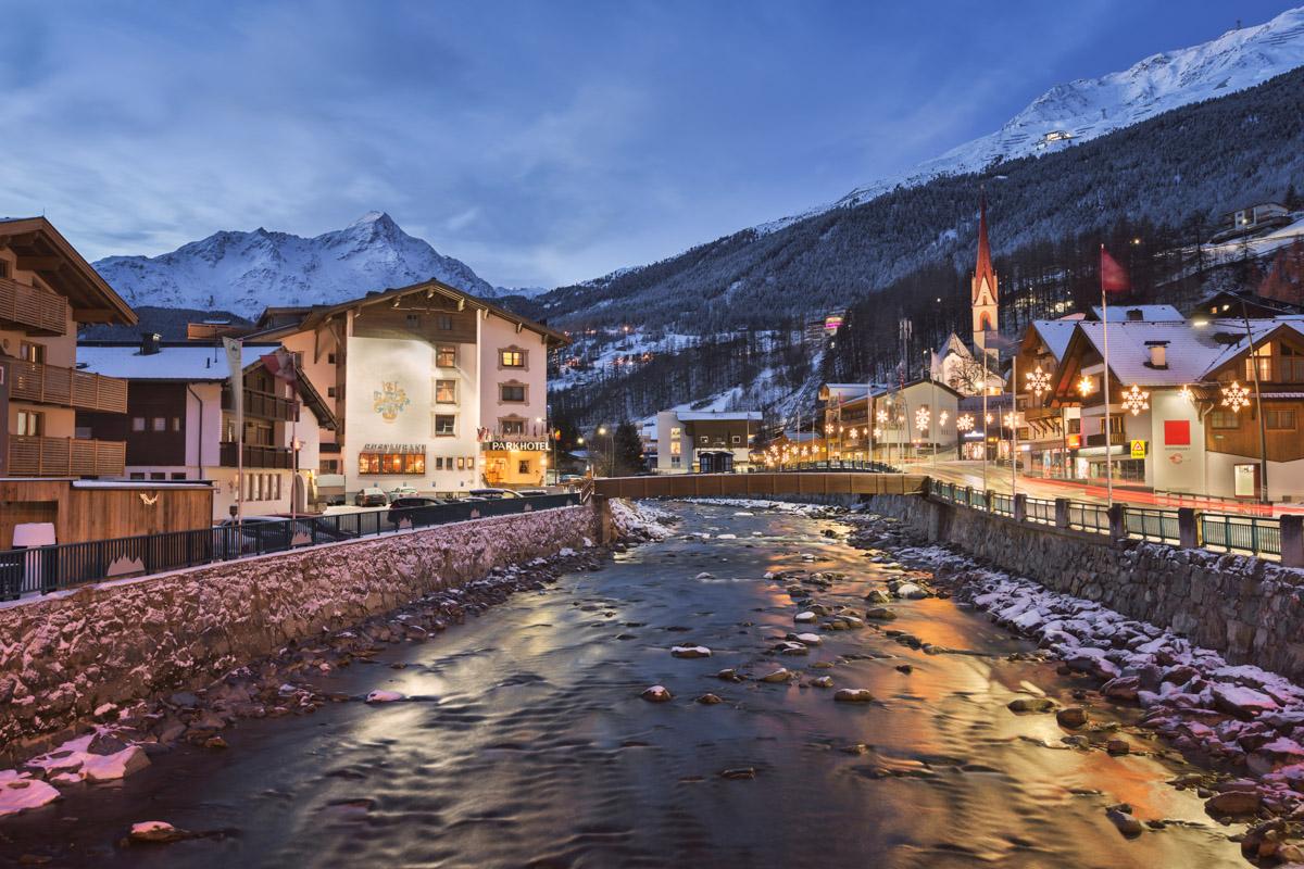 Soelden in the Morning, Tyrol, Austria