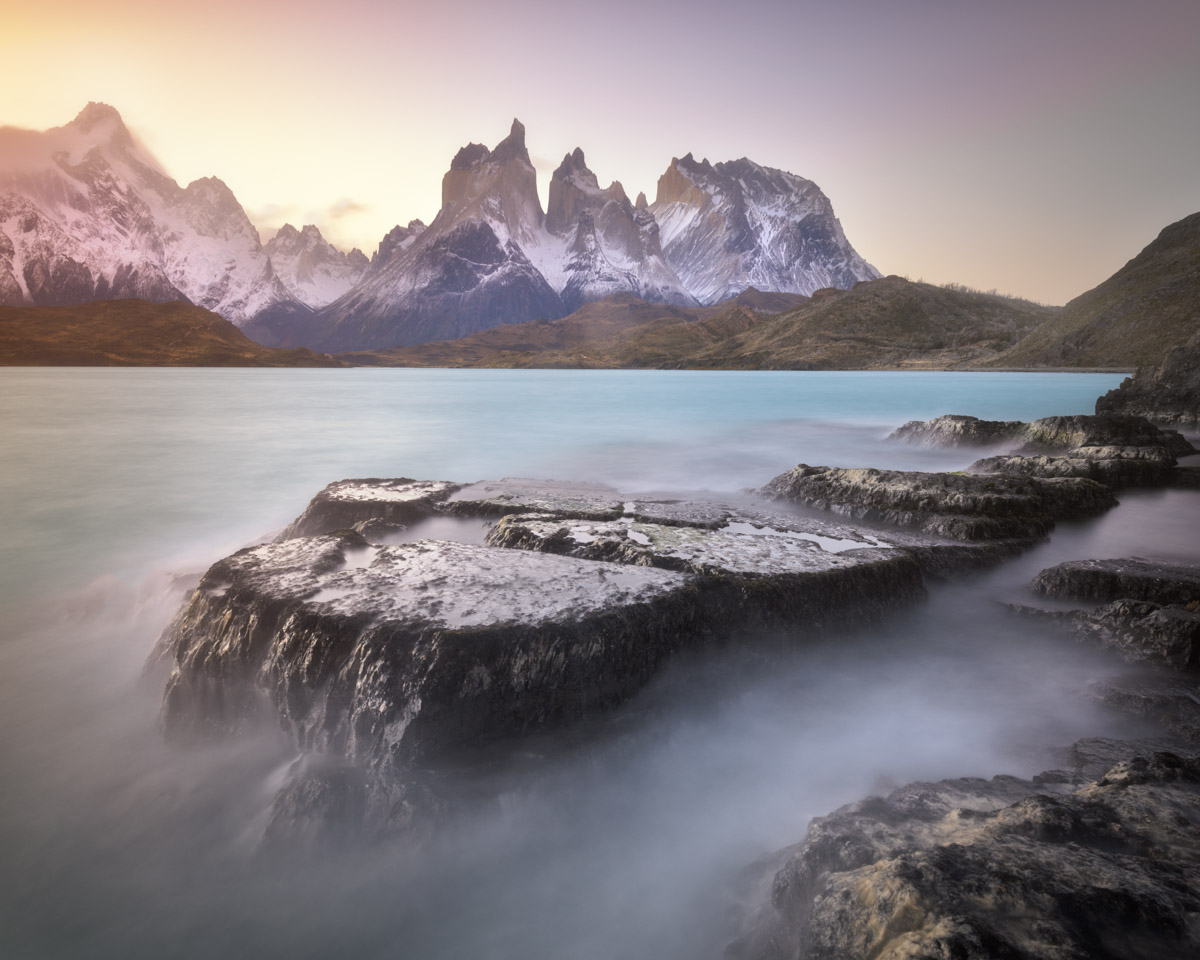 Pehoe Lake in Torres del Paine National Park, Chile