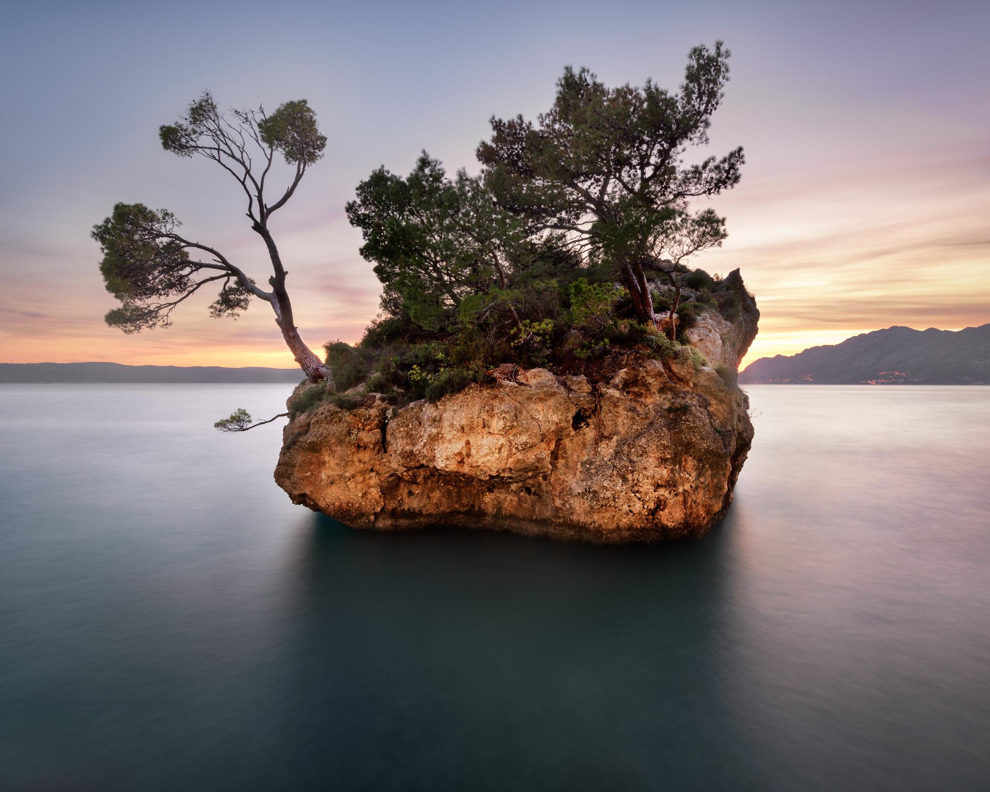 Brela Rock at Sunset, Dalmatia, Croatia
