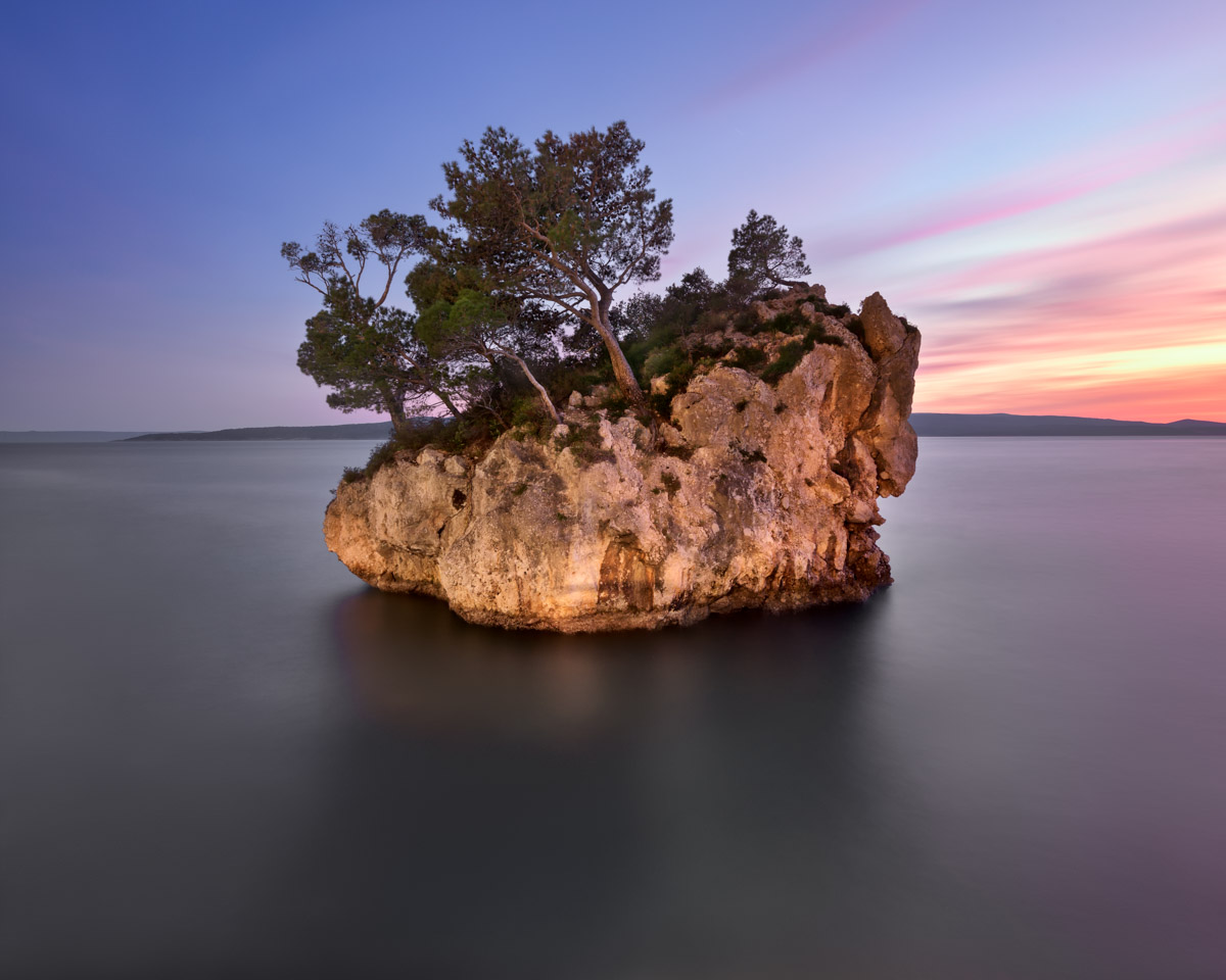 Brela Rock in the Evening, Dalmatia, Croatia