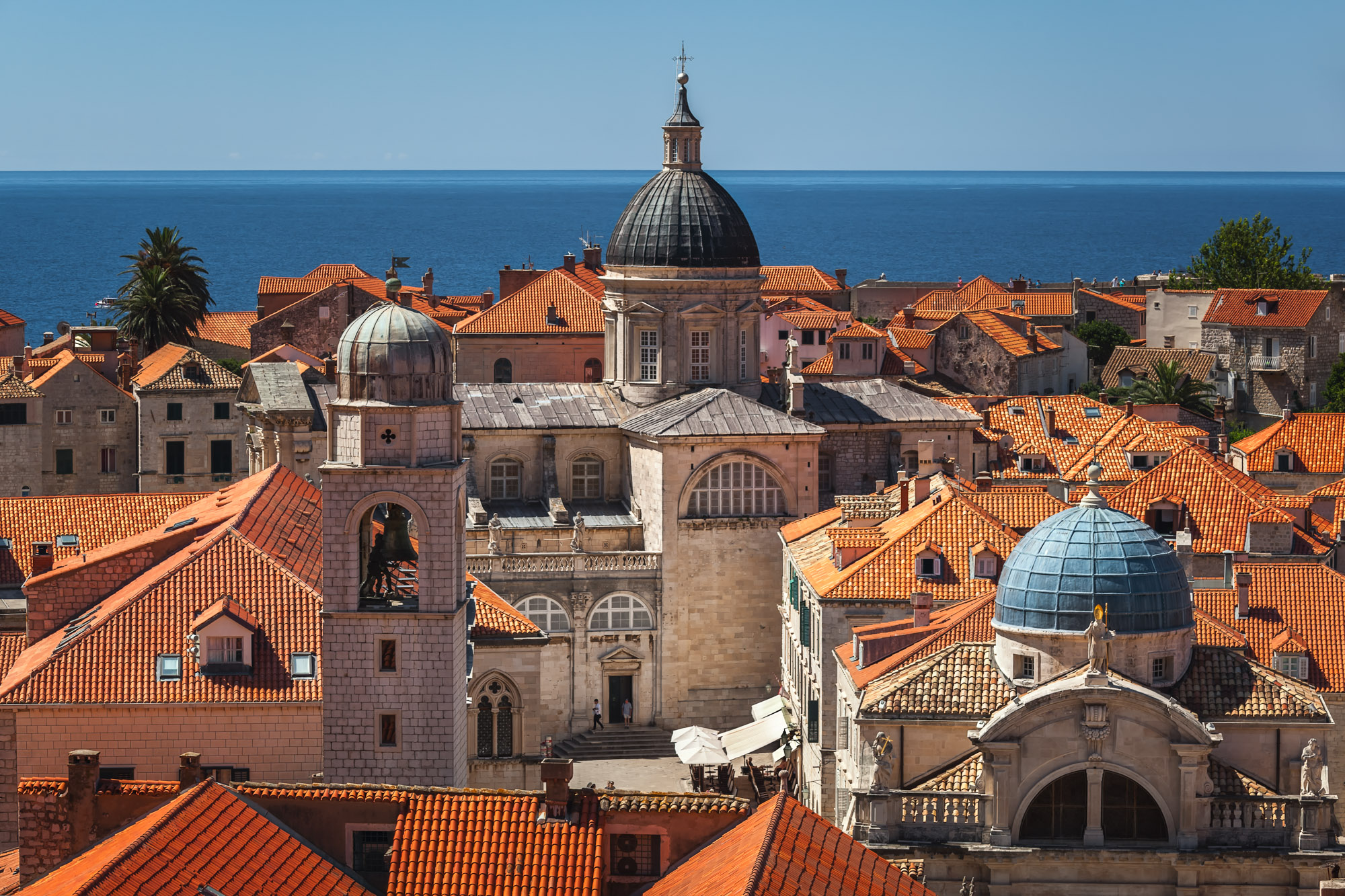 Aerial View of Dubrovnik from the City Walls, Dubrovnik, Croatia