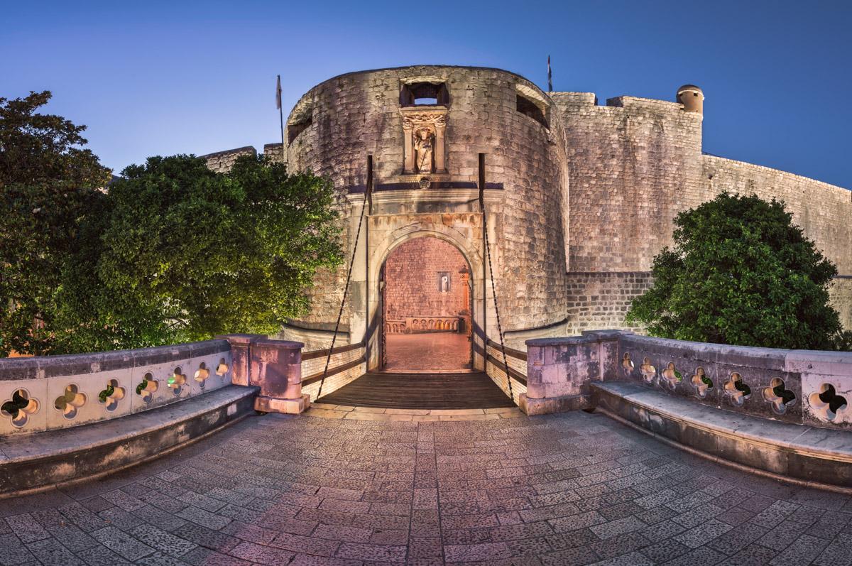 Dubrovnik Pile Gate and Draw Bridge, Dubrovnik, Croatia