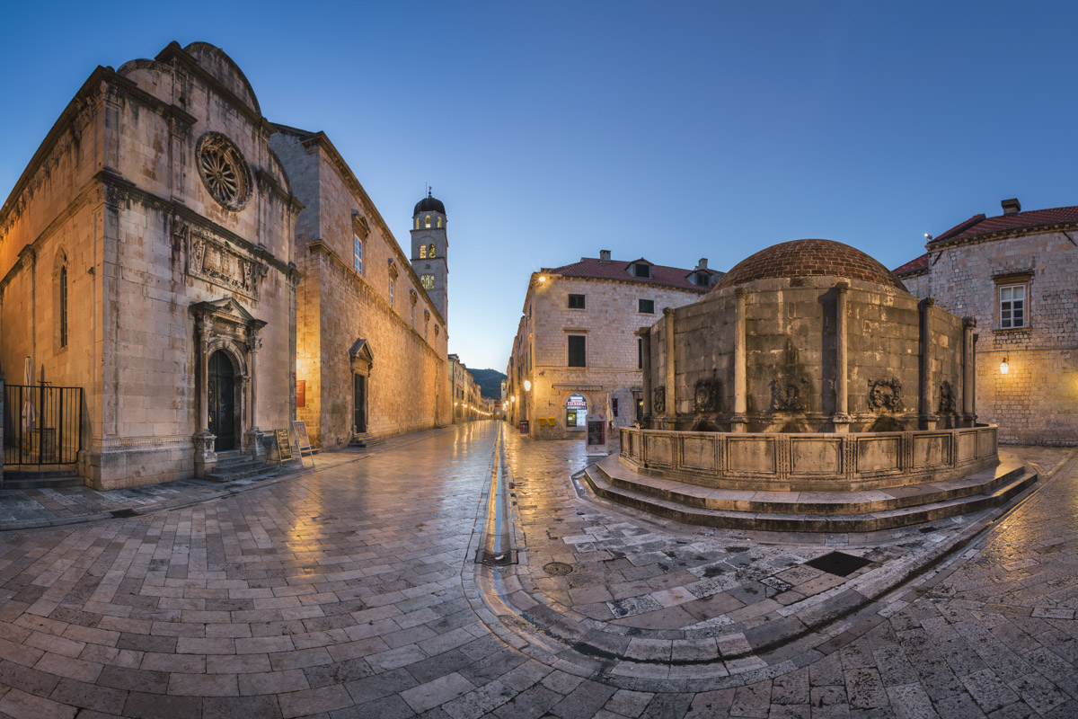 Great Onofrio Fountain, Holy Saviour Church, Dubrovnik, Croatia