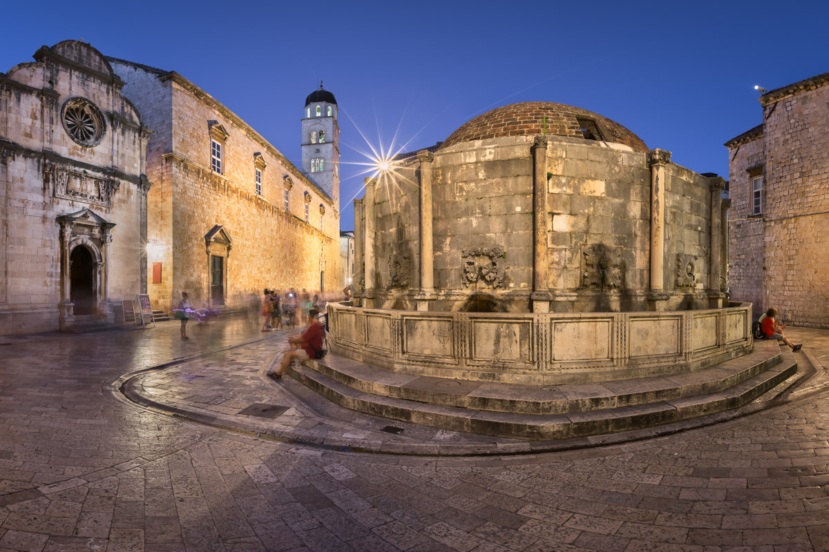 Great Onofrio Fountain in Dubrovnik, Croatia