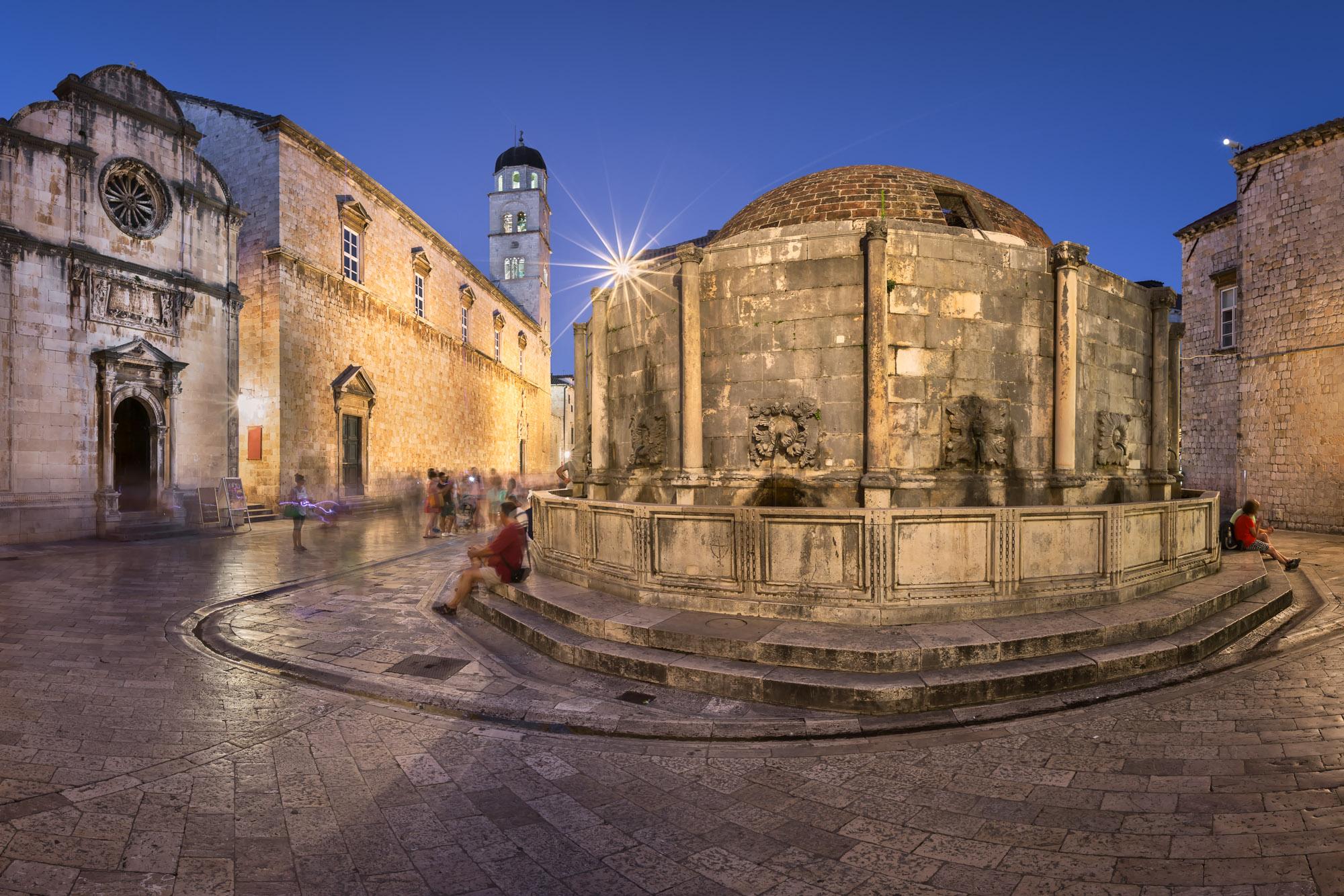 Great Onofrio Fountain in Dubrovnik, Croatia