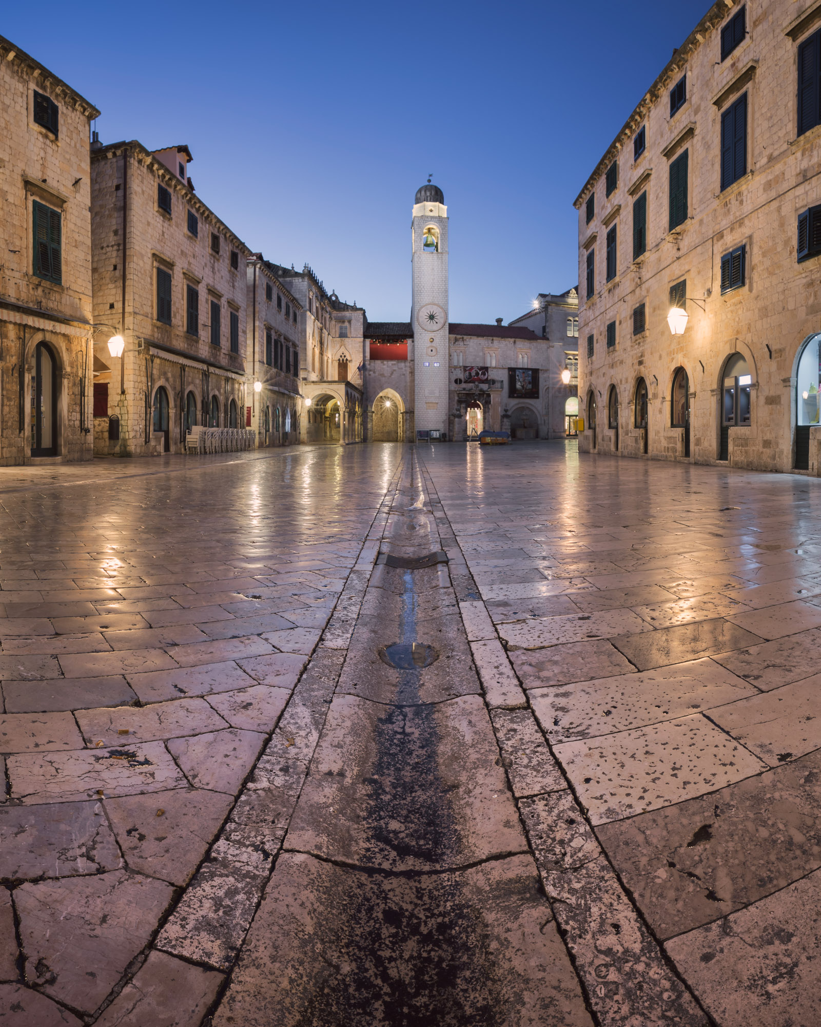 Stradun Street and Luza Square in Dubrovnik, Croatia