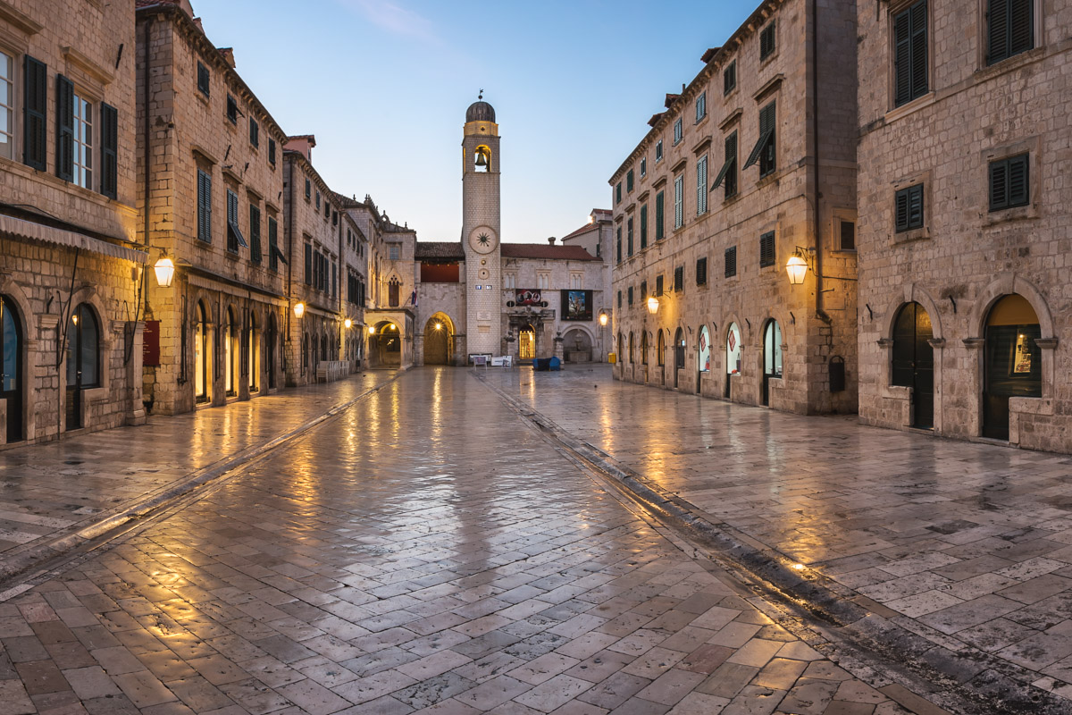 Stradun Street in Dubrovnik, Dalmatia, Croatia