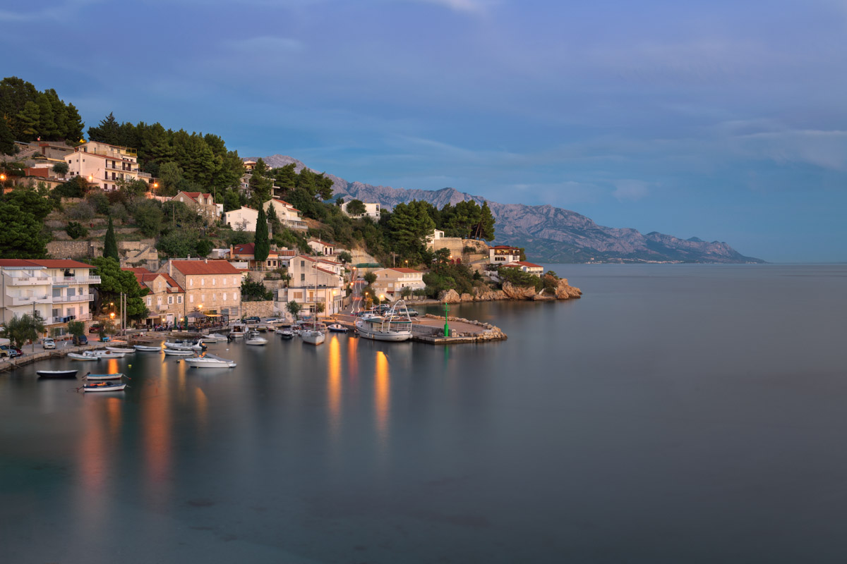 Mimice Village, Evening, Croatia