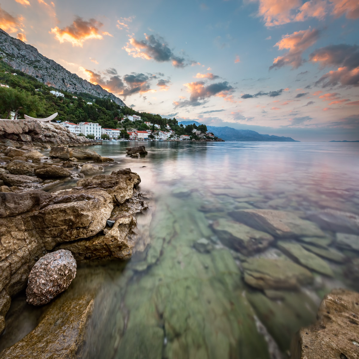 Rocky Beach, Mimice Village, Croatia