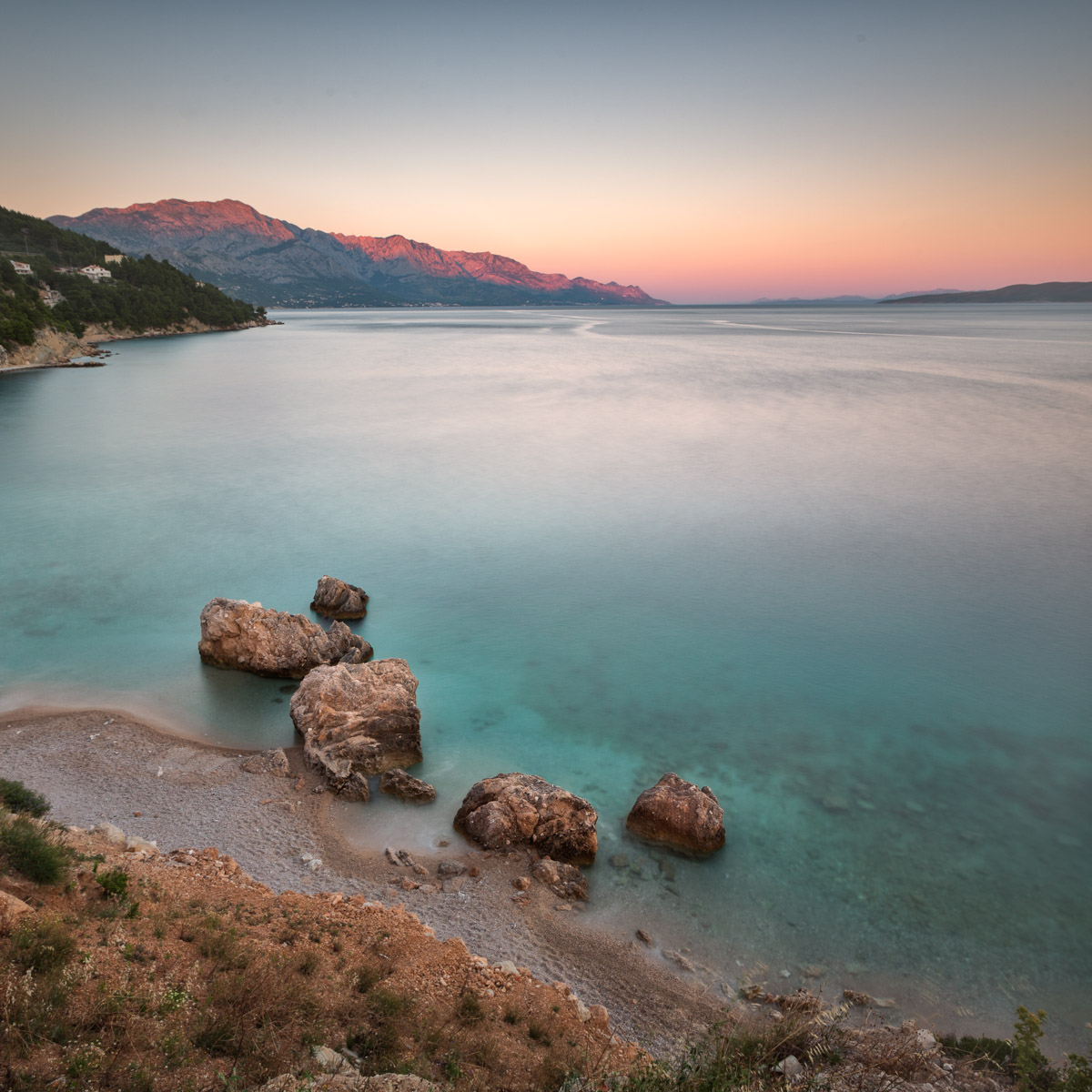 Rocky Beach, Sunset, Mimice Village, Croatia