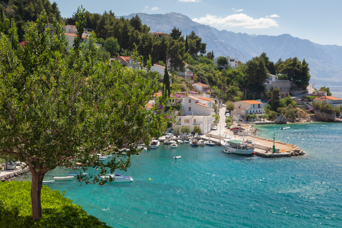 Small Village and Beautiful Adriatic Bay, Mimice, Croatia