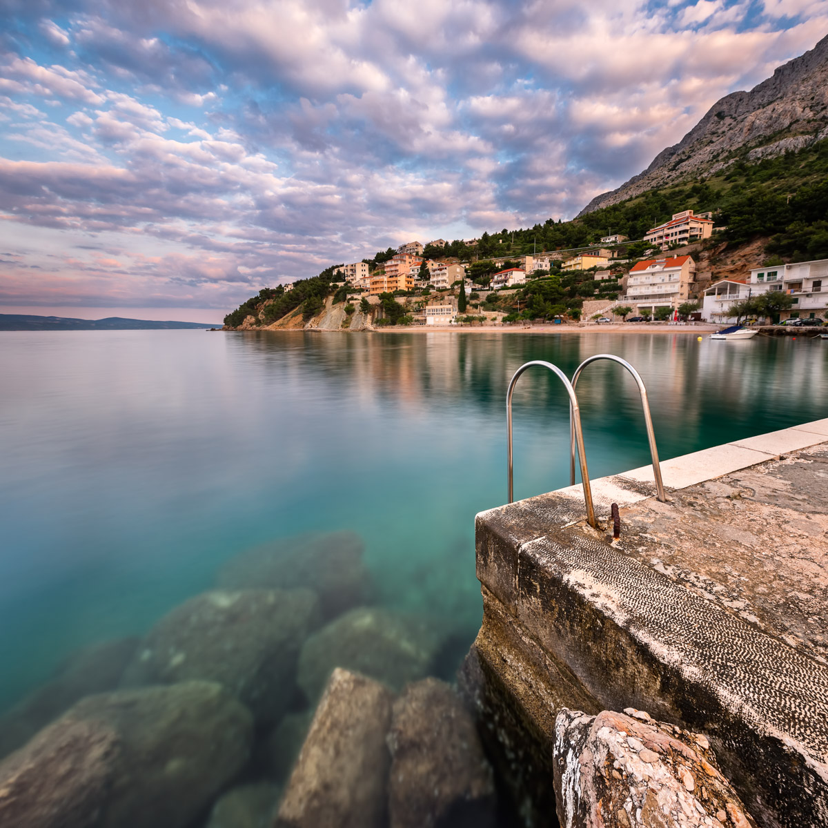 Stone Jetty in Mimice Village, Croatia