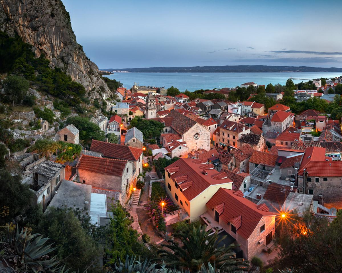 Aerial View of Omis, Croatia