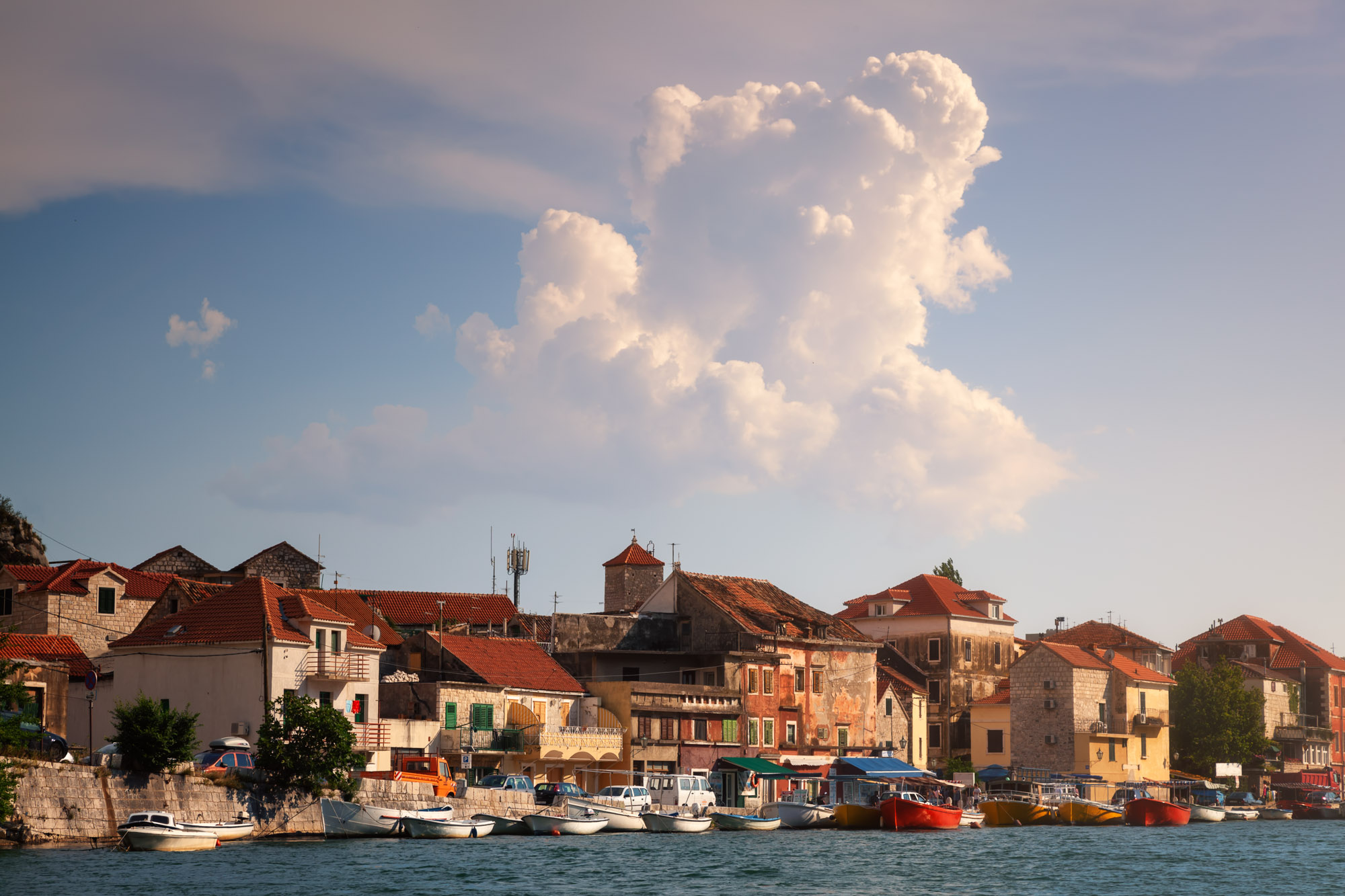 Medieval City of Omis and Cetina River, Croatia