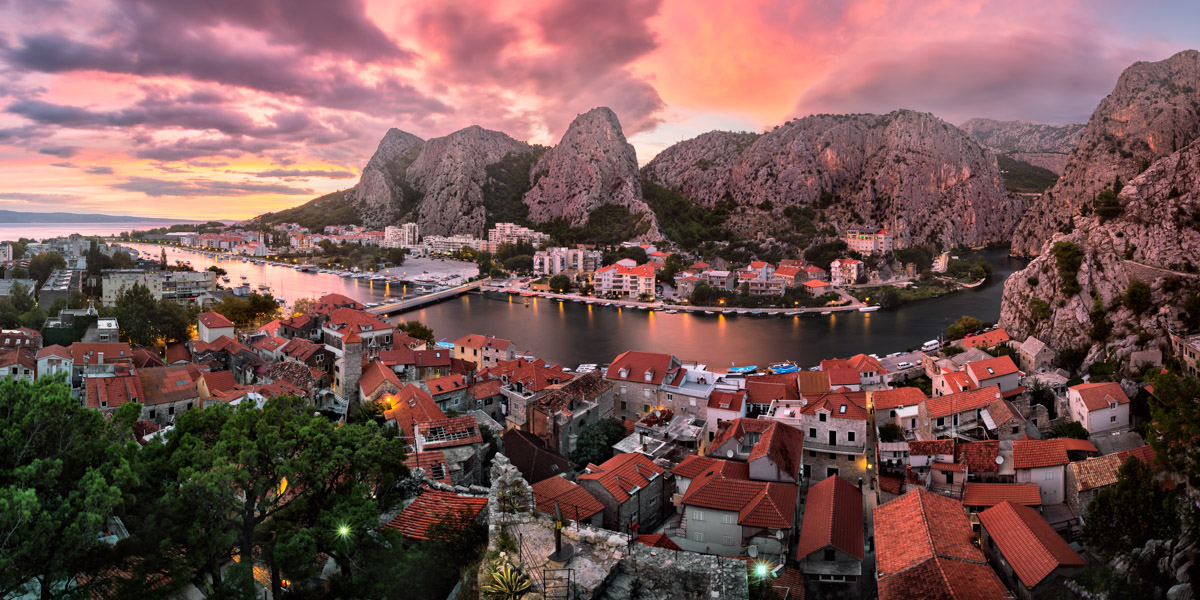 Omis and Cetina River, Dalmatia, Croatia