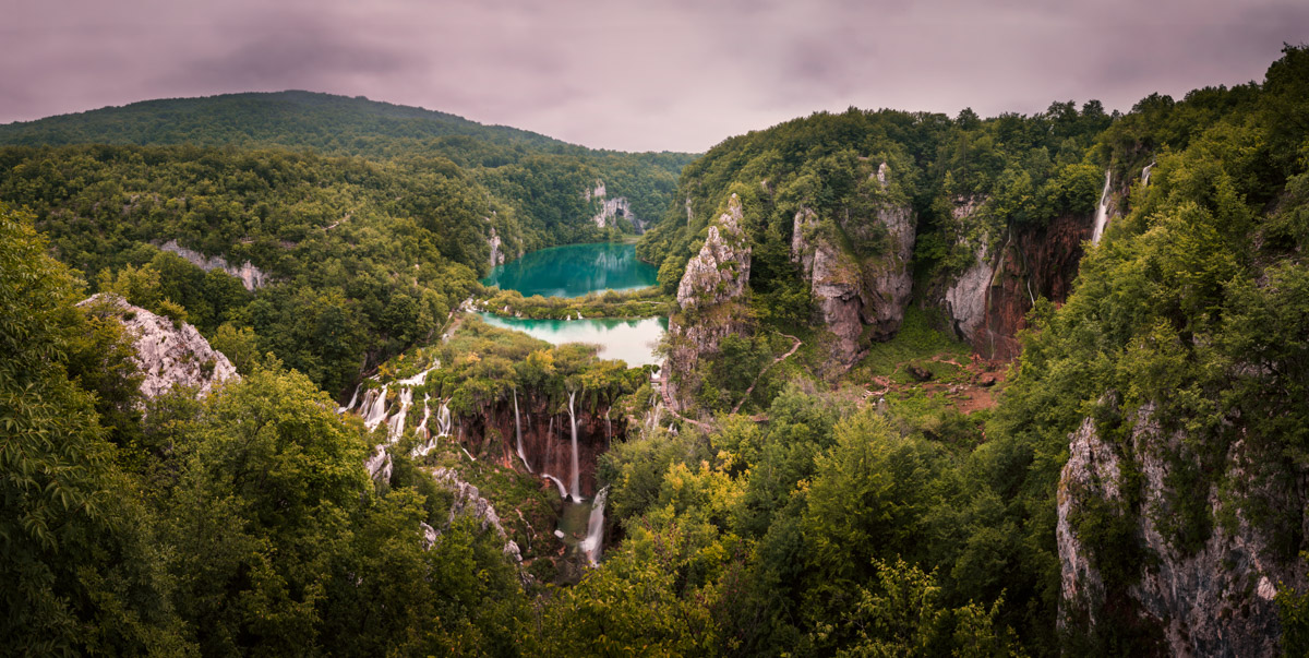 Plitvice Lakes National Park Waterfalls, Croatia