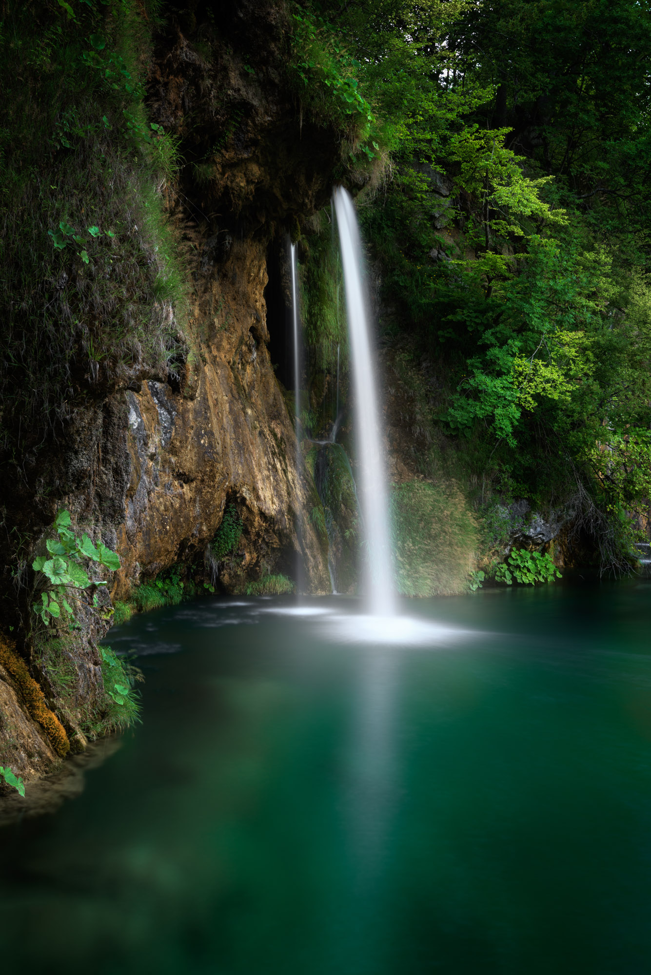 Small Waterfall at Plitvice Lakes National Park, Croatia