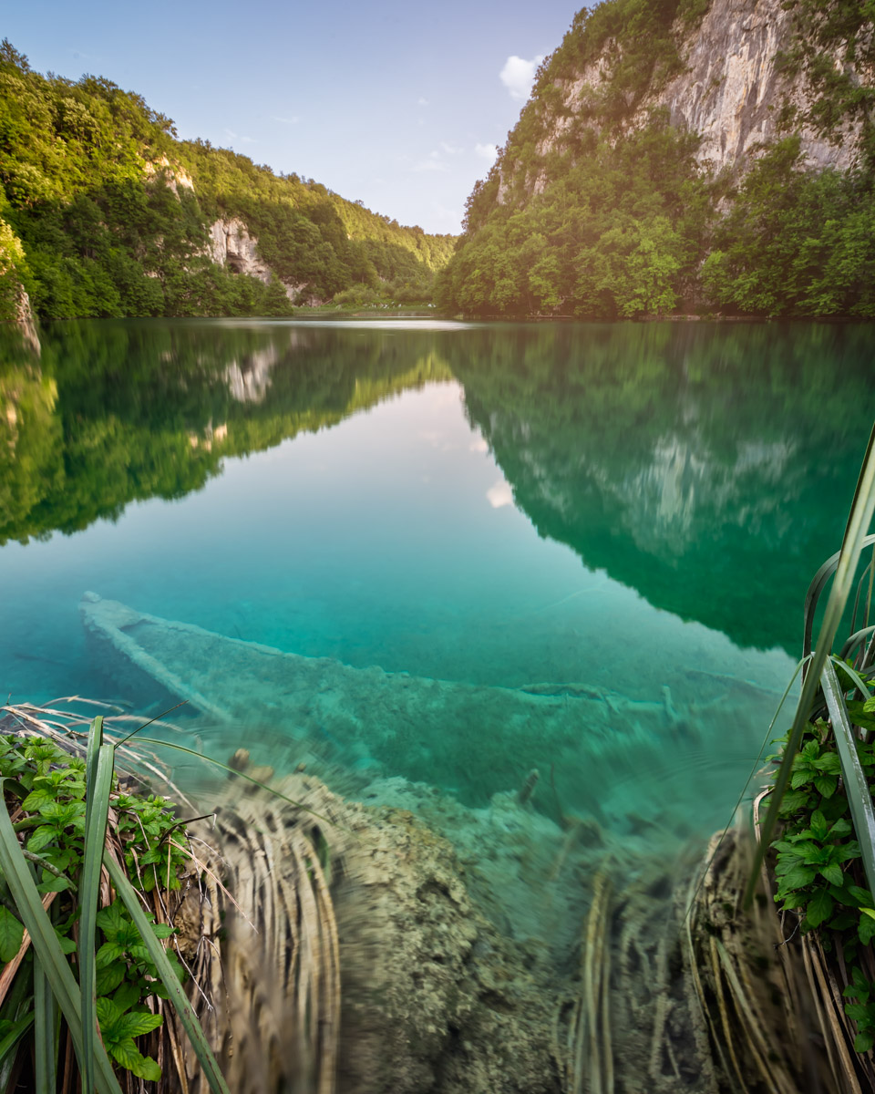 Sunk Boat in Plitvice Lakes National Park, Croatia