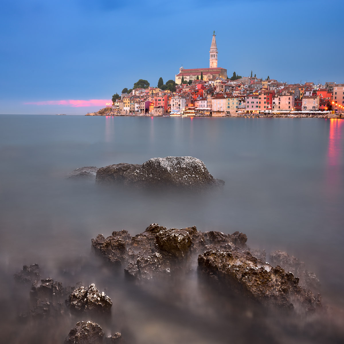 Rovinj in the Evening, Istria, Croatia