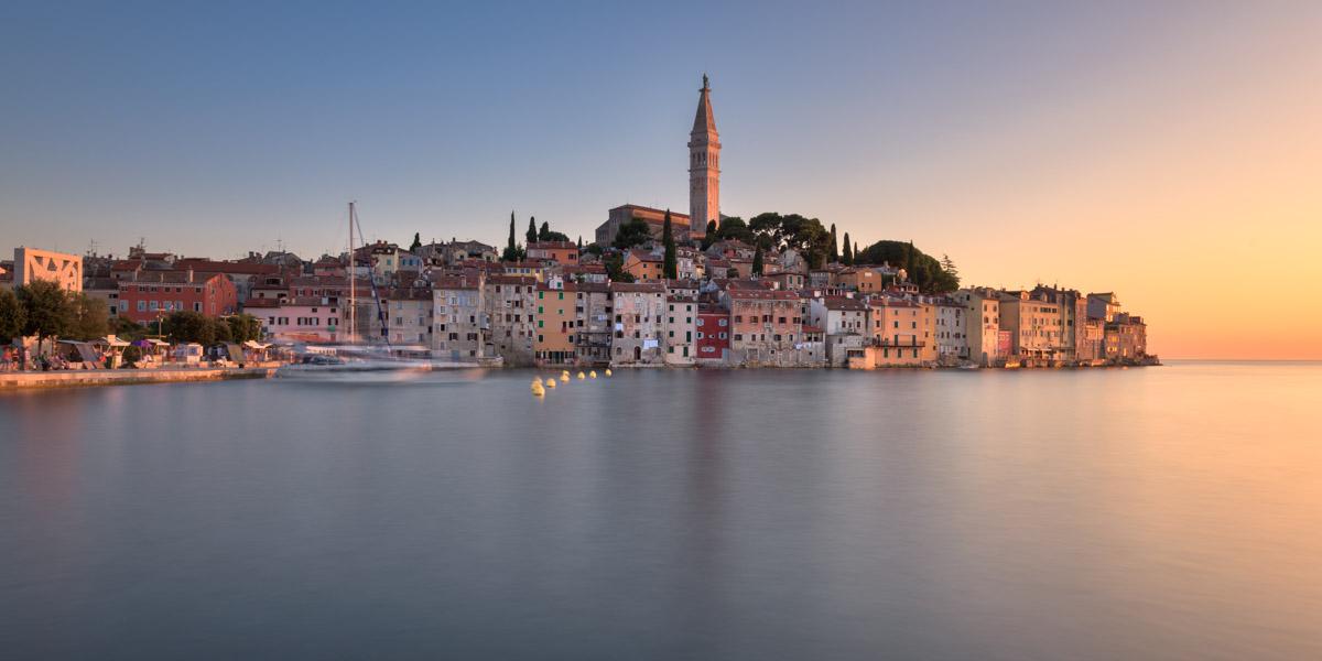 Rovinj Skyline at Sunset, Istria, Croatia