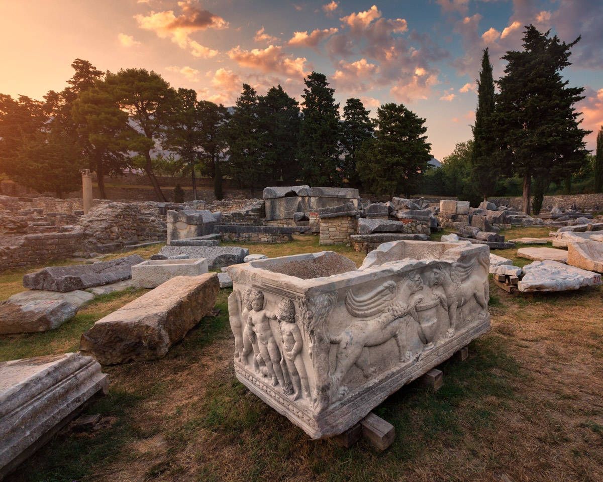 Ancient Sarcophagus, Salona, Split, Croatia