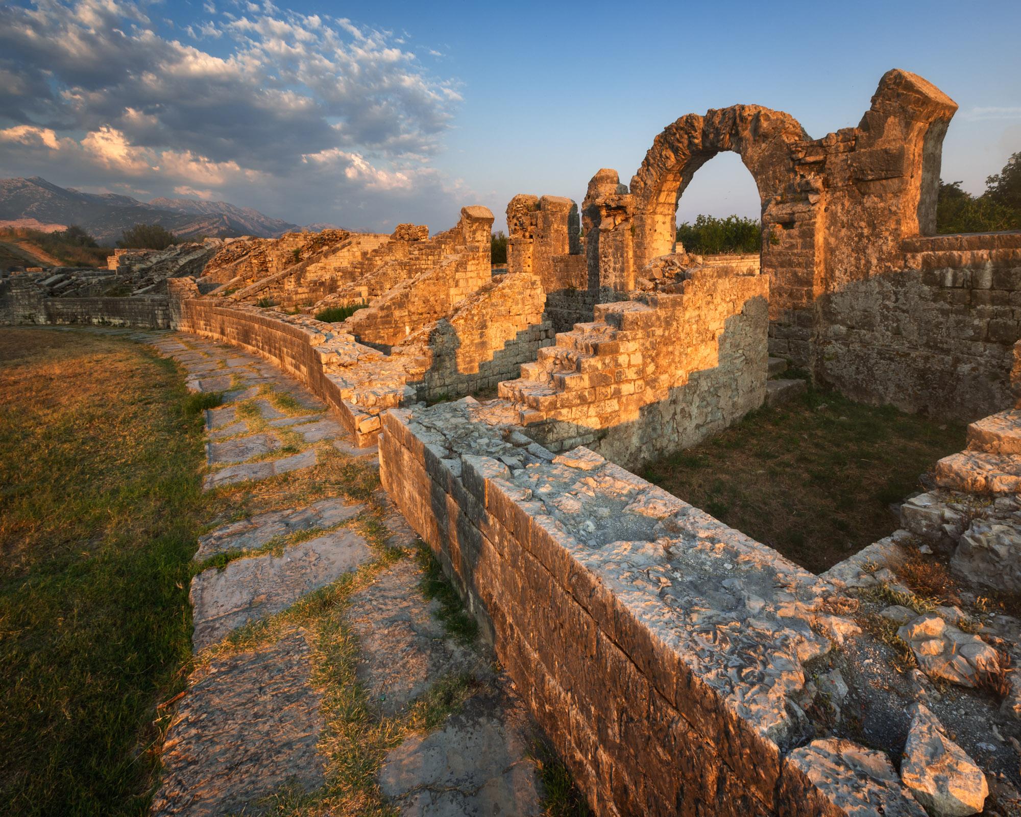 Roman Ampitheater Ruins in Salona, Split, Croatia