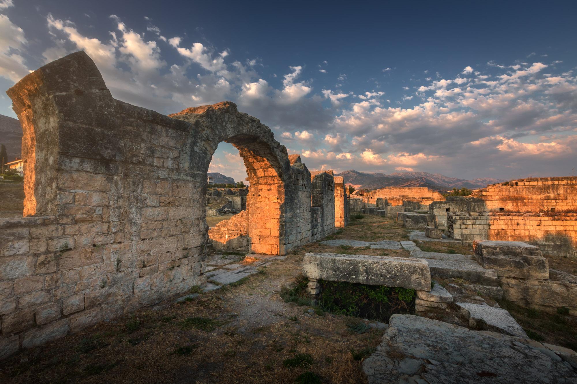 Ruins of Ancient Roman Salona, Split, Croatia