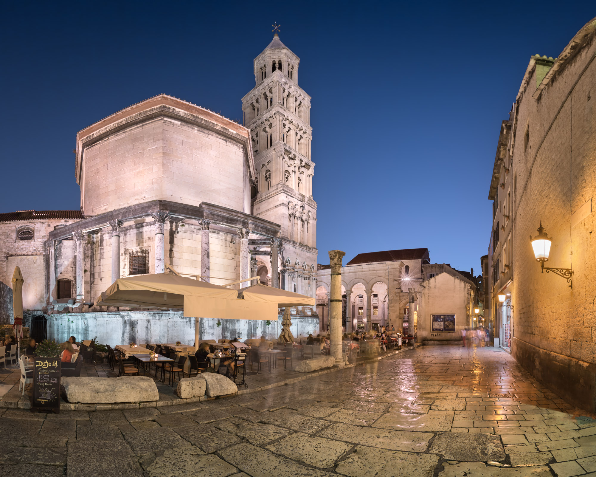 Diocletian Palace in the Evening, Split, Croatia