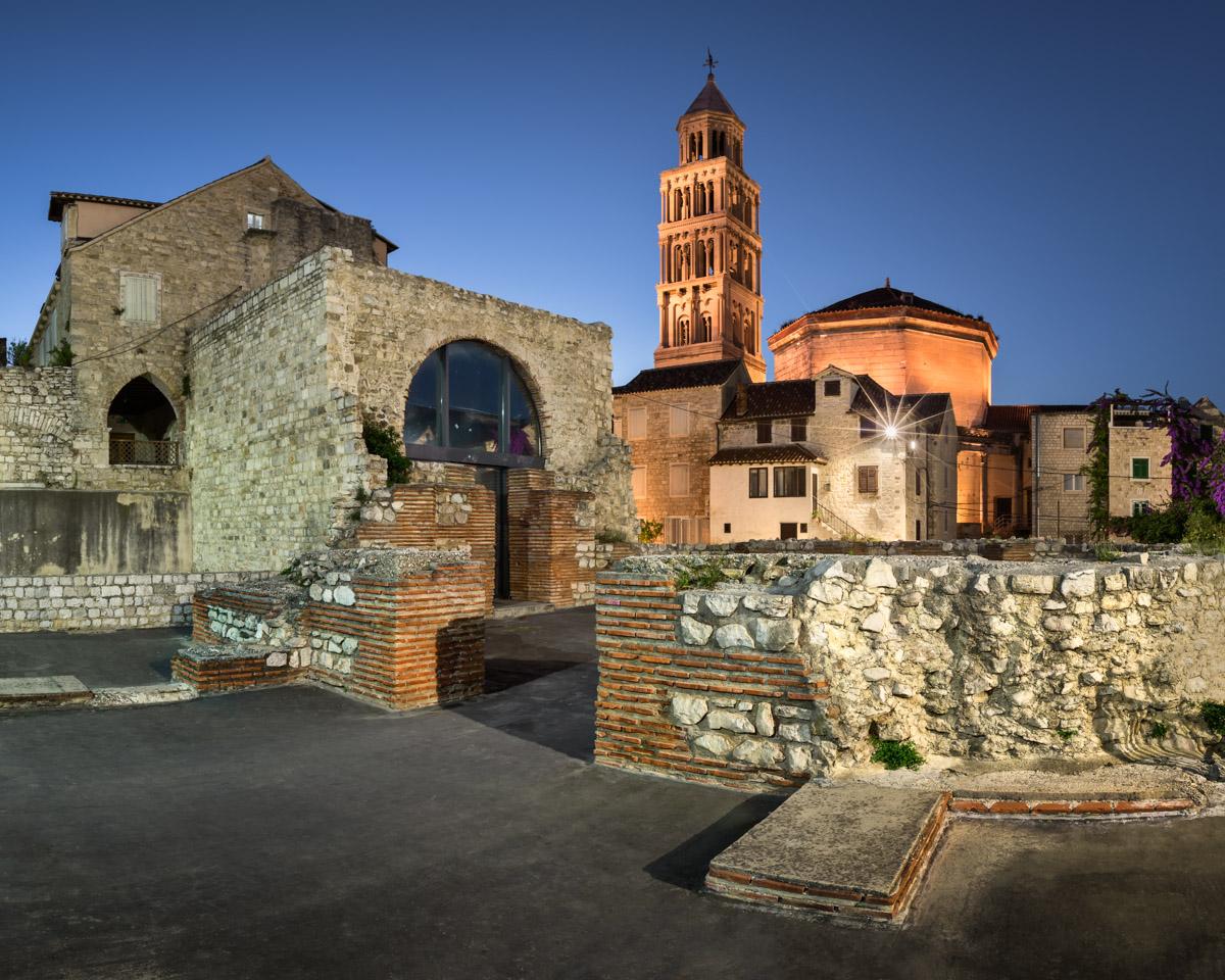 Emperor Diocletian Palace in Split, Croatia