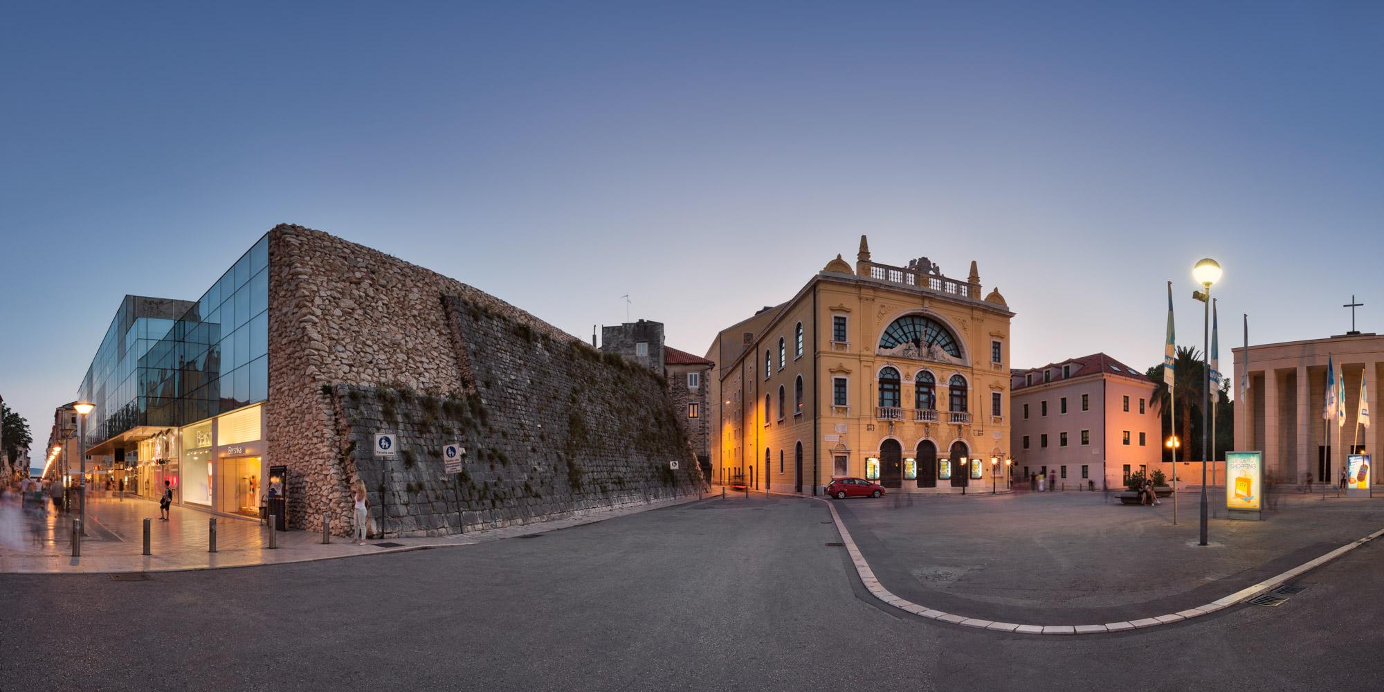 Gaje Bulata Square, National Theater, Split, Croatia