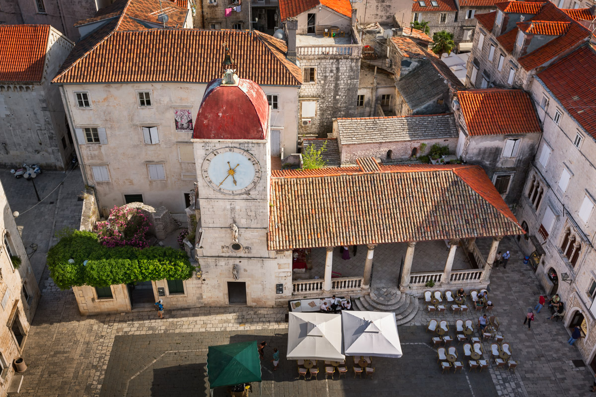 Aerial View of Saint Sebastian Church, Croatia