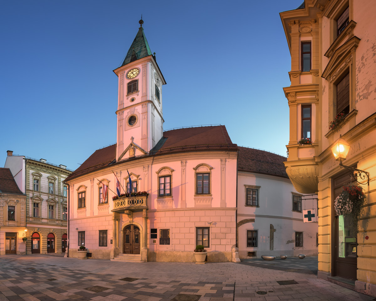 Panorama of Varazdin Townhall, Croatia