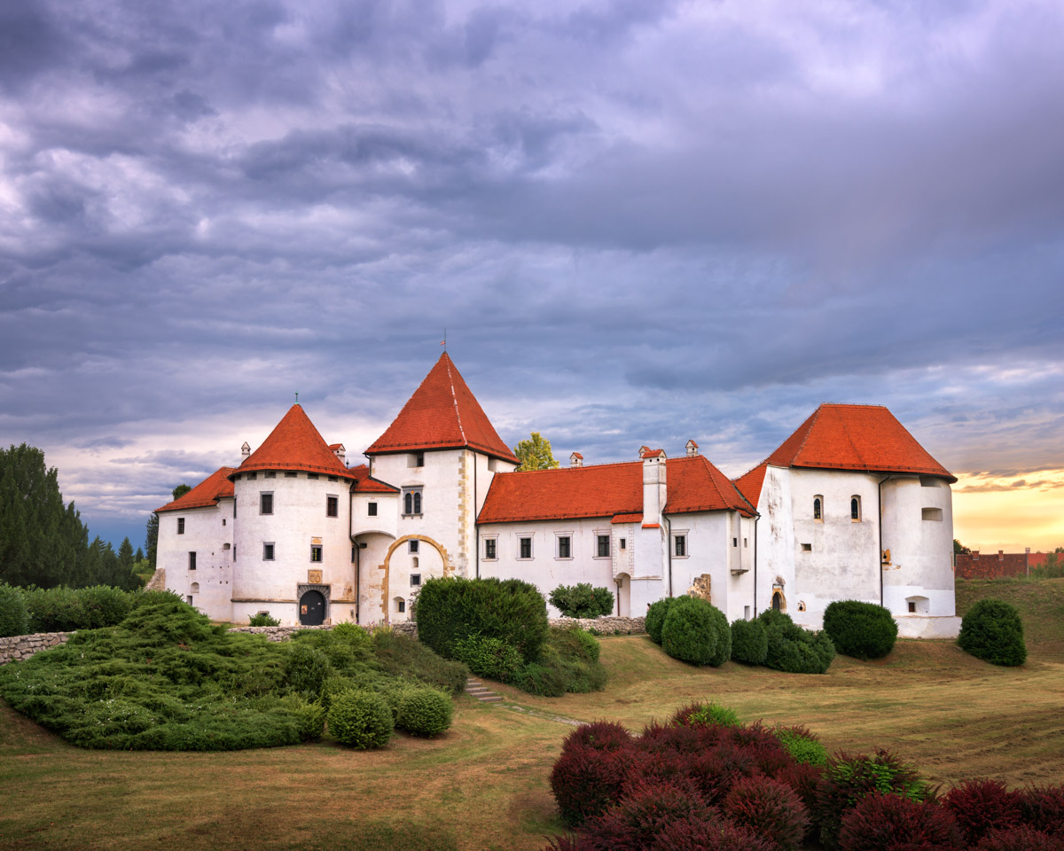 Varazdin Old Town in the Evening, Croatia