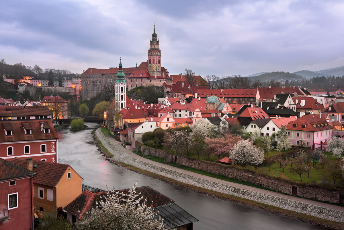 Aerial View of Cesky Krumlov, Czech Republic