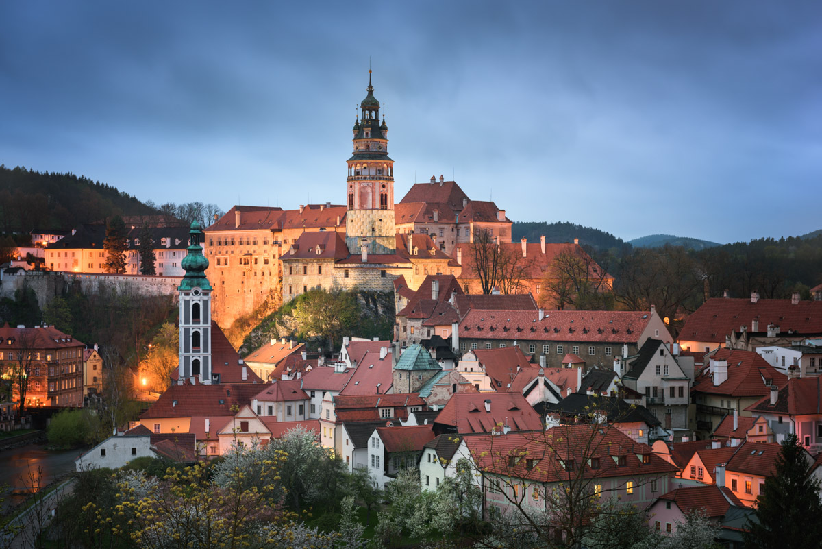 Cesky Krumlov in the Evening, Czech Republic