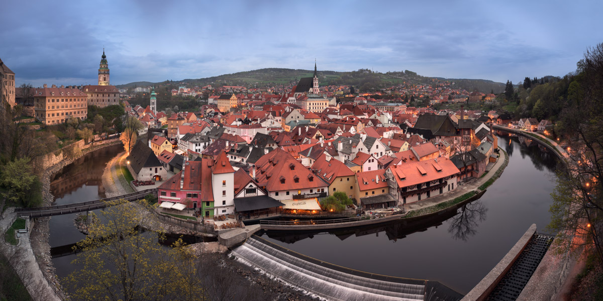 Panorama of Cesky Krumlov, Czech Republic