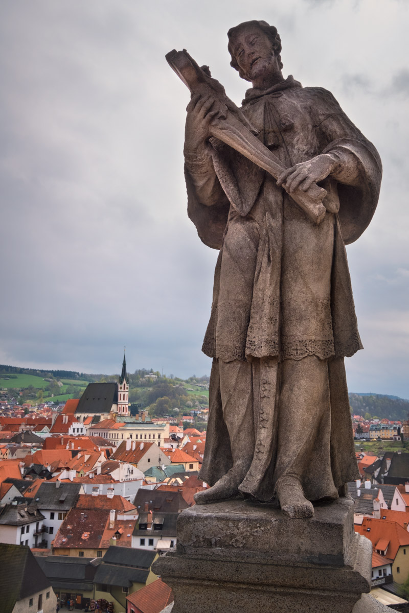 Saint John of Nepomuk, Cesky Krumlov, Czech Republic