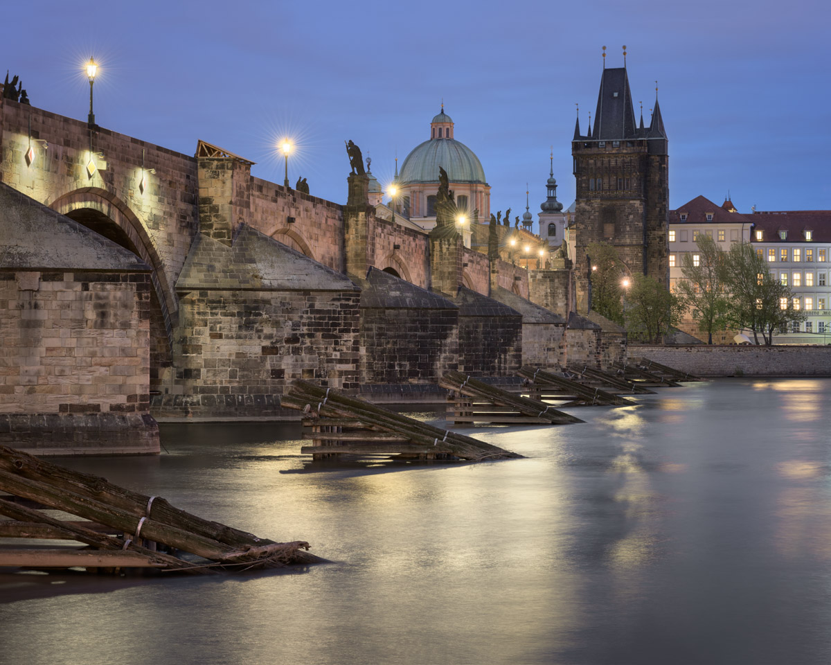 Charles Bridge and River Vltava, Prague, Czech Republic