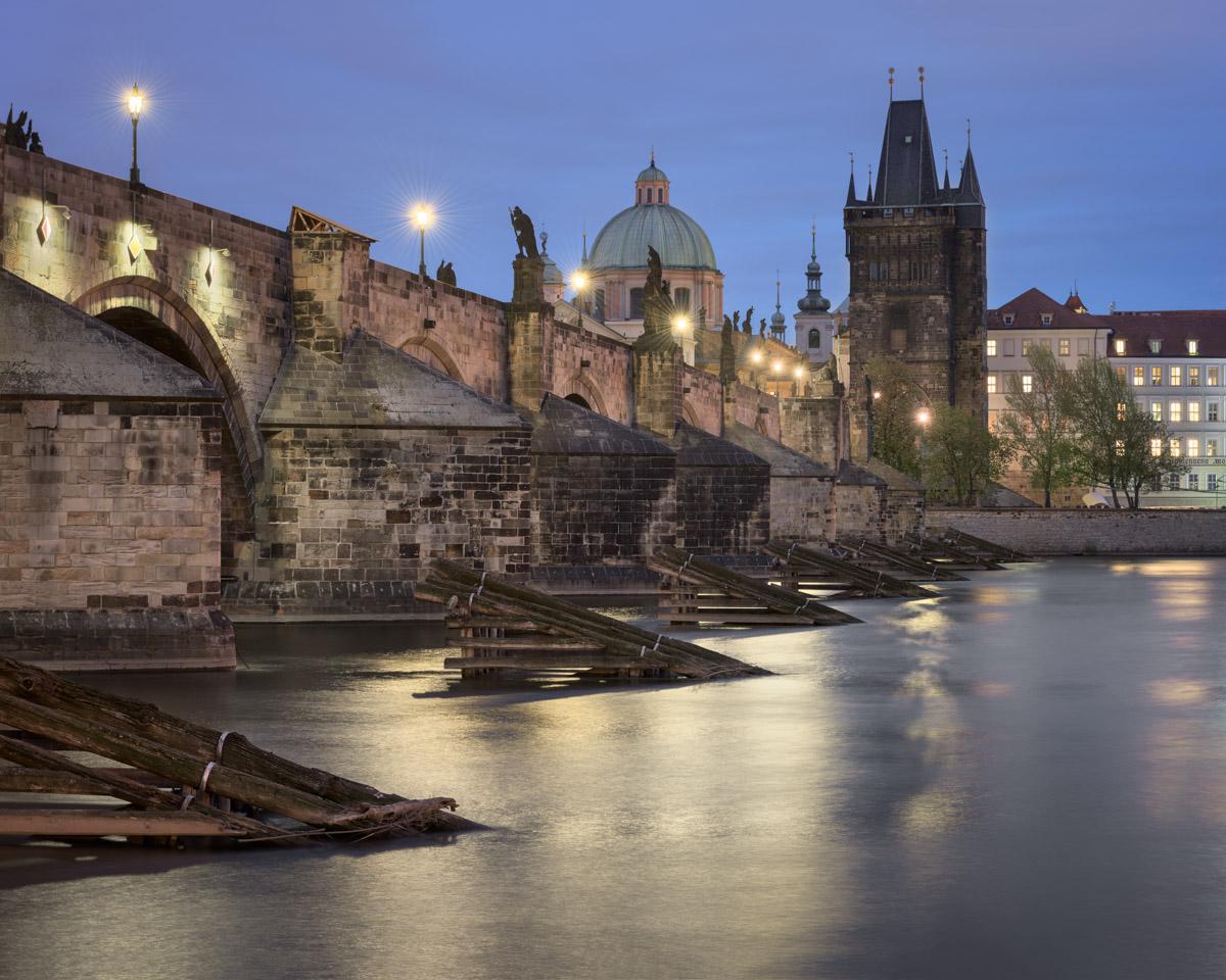 Charles Bridge and River Vltava, Prague, Czech Republic
