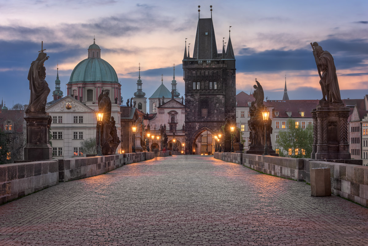 Charles Bridge, Old Town Bridge Tower, Prague, Czech Republic