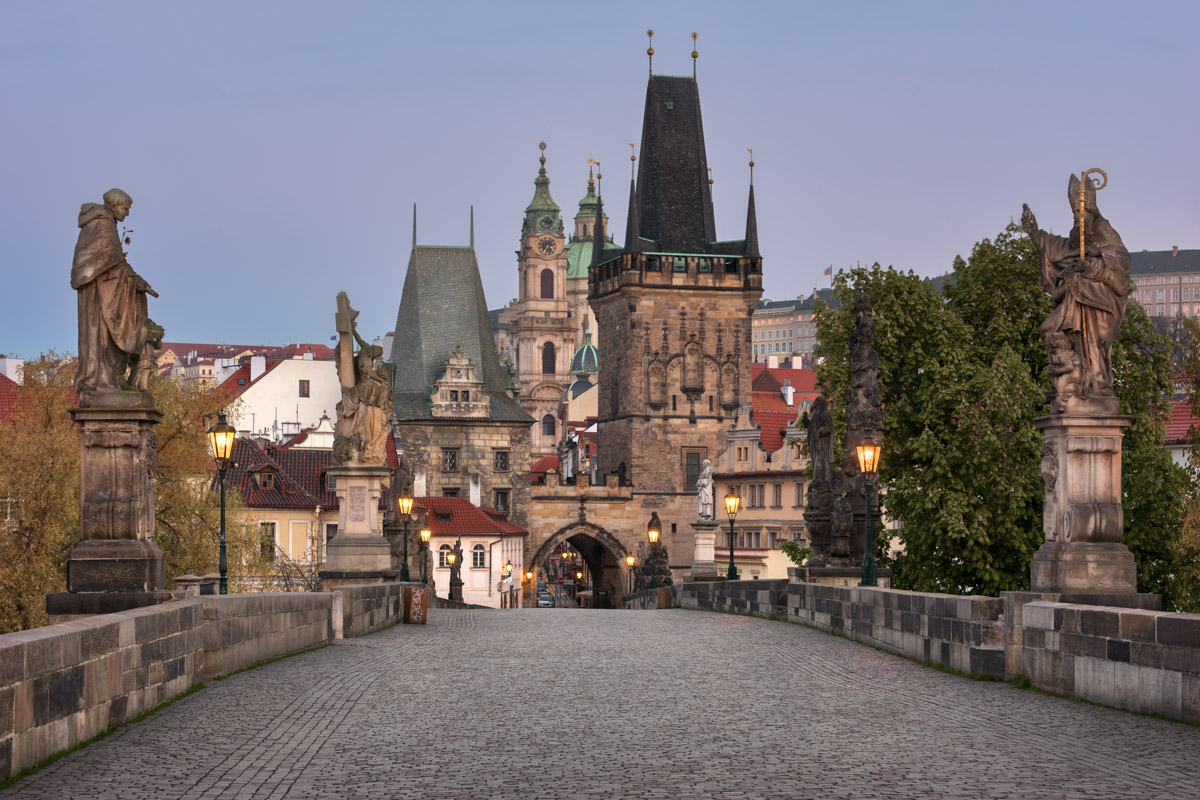 Lesser Town Bridge Tower and Charles Bridge, Prague