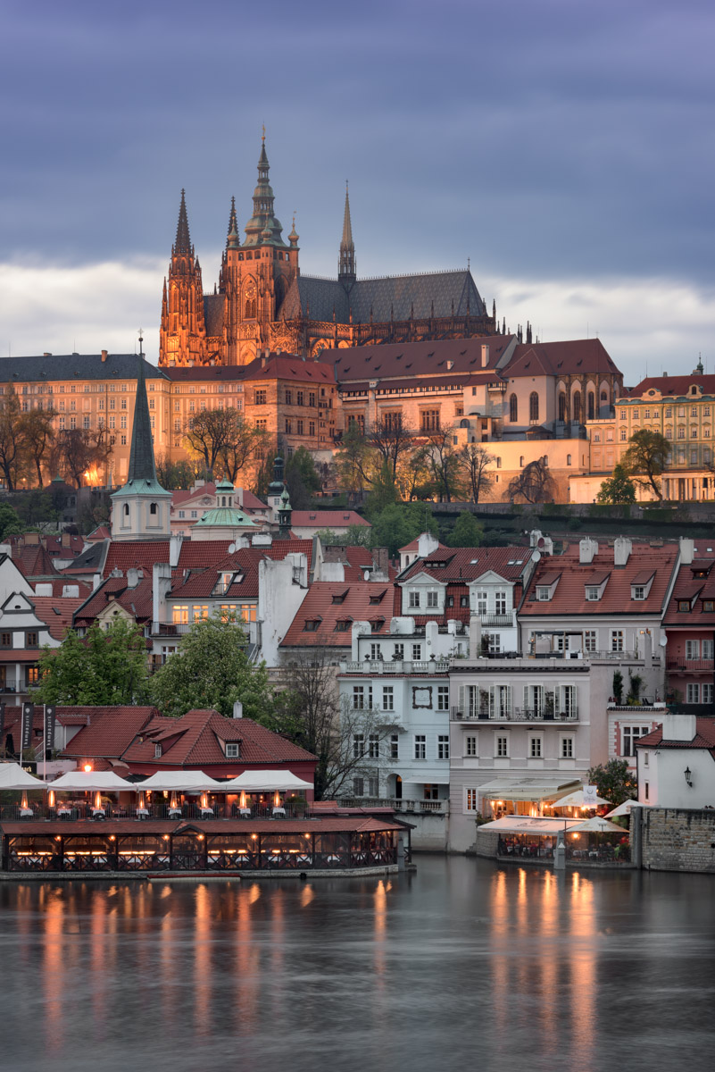 Prague Castle in the Evening, Prague, Czech Republic