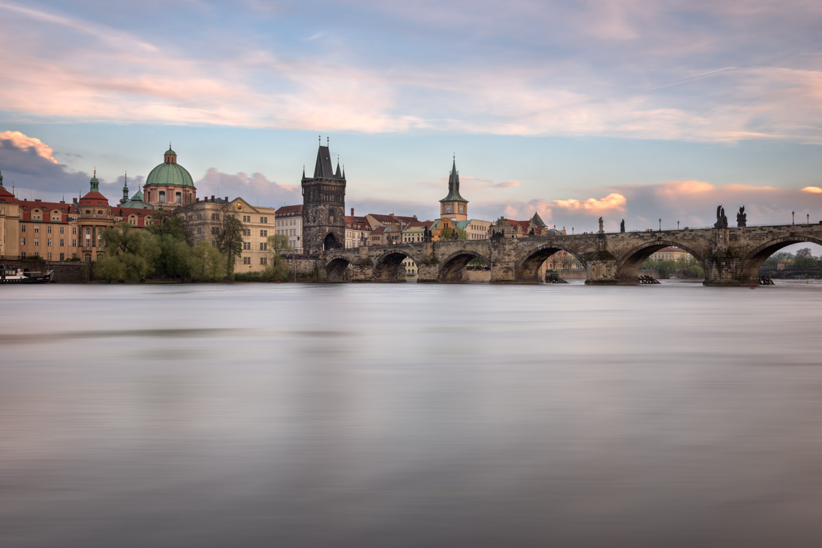 Vltava River, Charles Bridge, Prague, Czech Republic
