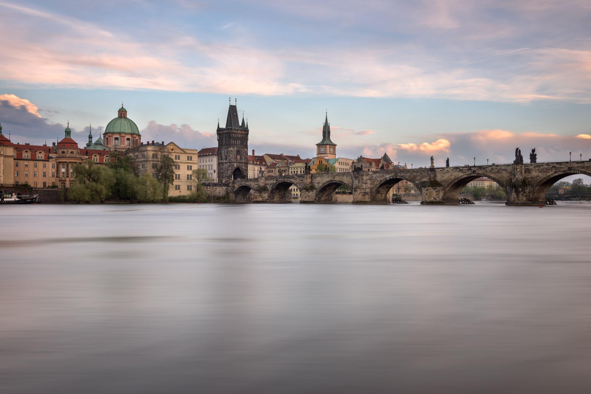 Vltava River, Charles Bridge, Prague, Czech Republic