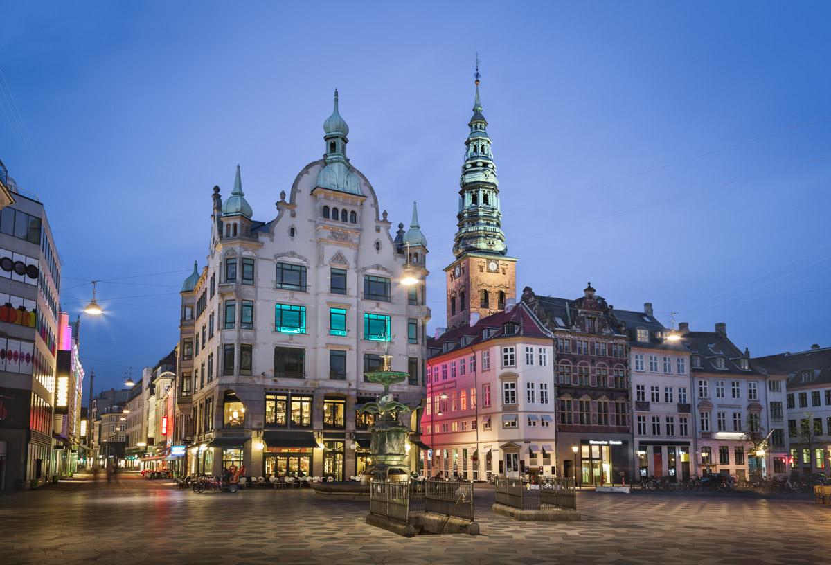 Amagertorv Square in the Evening, Copenhagen, Denmark