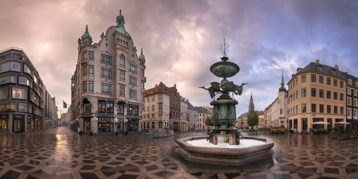 Amagertorv Square, Stork Fountain, Copenhagen, Denmark